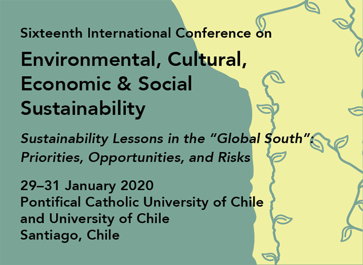 Sixteenth International Conference on Environmental, Cultural, Economic & Social Sustainability