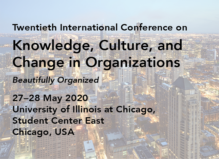 Twentieth International Conference on Knowledge, Culture, and Change in Organizations
