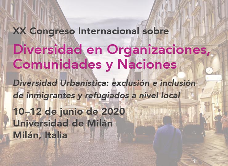 XX Congreso Internacional de Diversidad en Organizaciones, Comunidades y Naciones