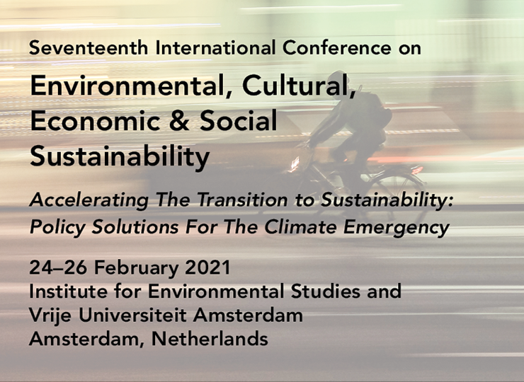 Seventeenth International Conference on Environmental, Cultural, Economic & Social Sustainability
